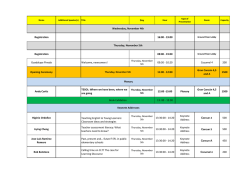 August 05 Schedule 42nd MEXTESOL Convention para enviar