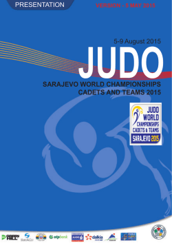 SARAJEVO WORLD CHAMPIONSHIPS CADETS AND TEAMS 2015