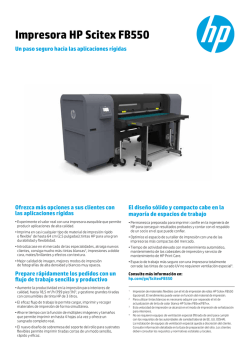 Impresora HP Scitex FB550