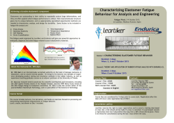 Characterizing Elastomer Fatigue Behaviour for Analysis and