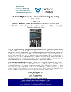 US Public Diplomacy and Democratization in Spain: Selling