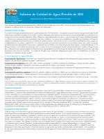 Informe de Calidad de Agua Potable de 2014
