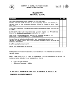 REQUISITOS SERVICIO SOCIAL