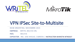 VPN IPSec Site-to-Multisite - MUM