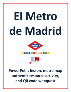 Madrid Metro Lesson