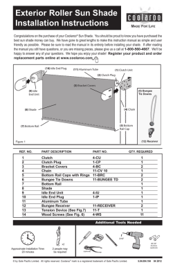 exterior roller sun shade installation instructions