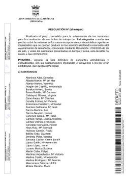 lista definitiva de aspirantes admitidos-as y excluidos