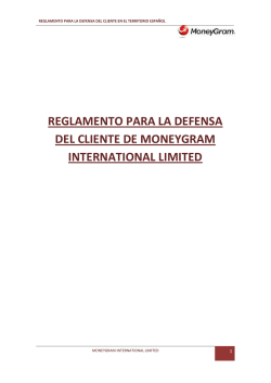 MONEYGRAM INTERNATIONAL LIMITED (RED DE AGENTES)