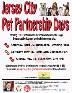 Featuring FREERabies Shots for Jersey City Cats and Dogs. Dogs