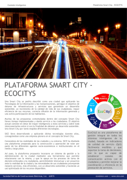 PLATAFORMA SMART CITY - ECOCITYS