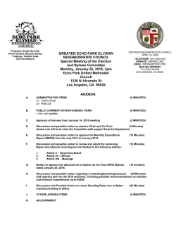 GREATER ECHO PARK ELYSIAN NEIGHBORHOOD COUNCIL