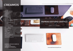 folleto corporativo - paprika estudio grafico