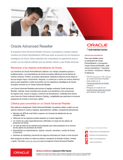 programa Oracle Advanced Reseller