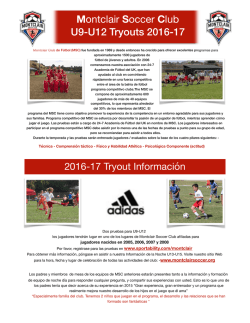 **U9-U12 2016 Tryouts Final MN Spanish.pages