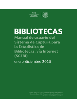 Manual de Usuario - 912 Bibliotecas