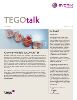 TEGOtalk Life Cycle Assessment SILIKOPON EF