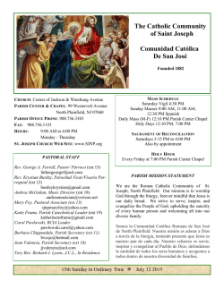 Bulletin July 12, 2015 - St. Joseph North Plainfield
