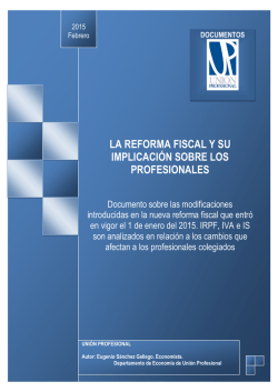 Descargar Informe sobre la incidencia de la