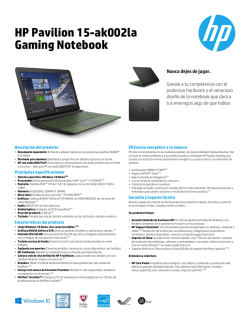 HP Pavilion 15-ak002la Gaming Notebook