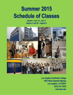 Summer 2015 - Los Angeles Southwest College