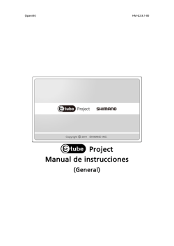 Project Manual de instrucciones - e-tube project