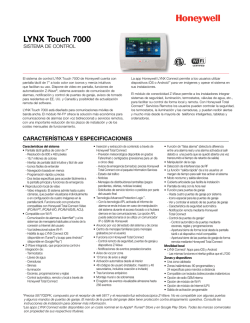 LYNX Touch 7000 Control System