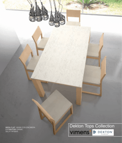 Dekton Tops Collection