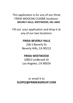 Printable Application - Frida Mexican Cuisine
