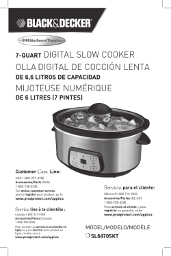 7-quart digital slow cooker olla digital de cocción lenta mijoteuse