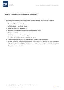+ Requisitos - Universidad Nacional de Avellaneda