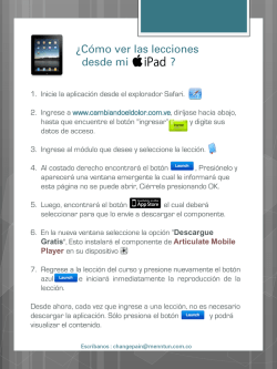 Ver en iPad - Change Pain :: LATAM