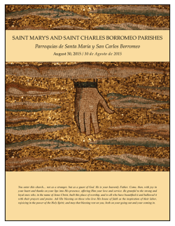 SAINT MARY`S AND SAINT CHARLES BORROMEO PARISHES