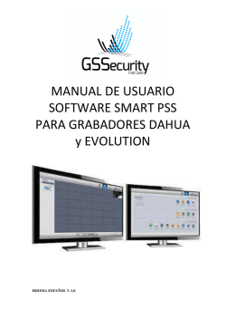 Manual Usuario PSS Manual para usuario de PSS. PDF 6MB