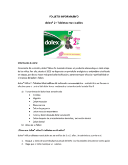 FOLLETO INFORMATIVO dolex® 2+ Tabletas masticables