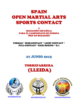 (LLEIDA) SPAIN OPEN MARTIAL ARTS SPORTS CONTACT