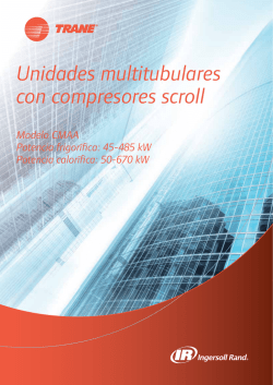 Unidades multitubulares con compresores scroll