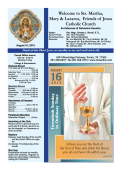 August 16, 2015 - Kingwood - St. Martha Catholic Church