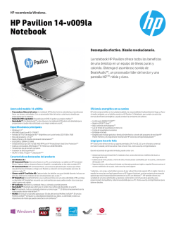 HP Pavilion 14-v009la Notebook