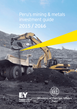 Peru`s mining & metals investment guide 2015 / 2016