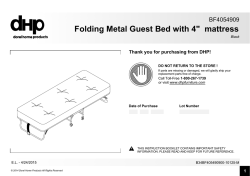 Folding Metal Guest Bed with 4