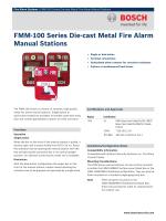 FMM‑100 Series Die‑cast Metal Fire Alarm Manual