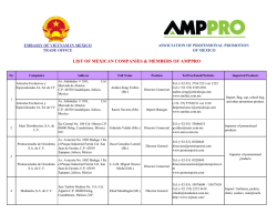 LIST OF MEXICAN COMPANIES & MEMBERS OF AMPPRO