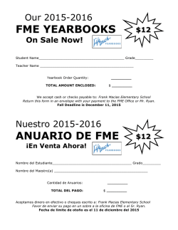 FME YEARBOOKS ANUARIO DE FME