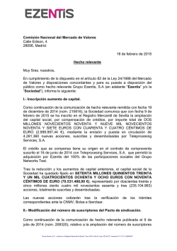 Inscripción aumento de capital Teleprocessing y