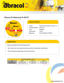 Discos Profesional A-30-2T