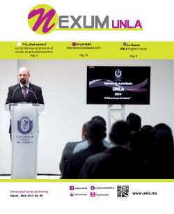 NEXUM No.99 - Universidad Latina de América