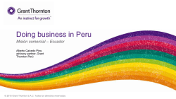 Networking : Doing Business in Peru