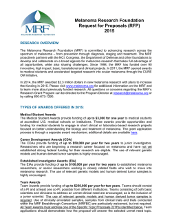 Melanoma Research Foundation Request for Proposals (RFP) 2015