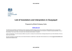 List of translators and interpreters in Guayaquil