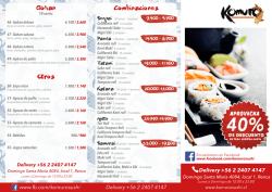 Delivery +56 2 2407 4147